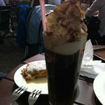 Ice coffee at the Cafe