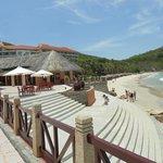 Steps to a beach side bar