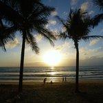 Sunset at Kamala Beach next to the hotel