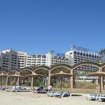 Jardines de la playa y Hoteles