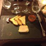 Foie gras avec gelée et confiture