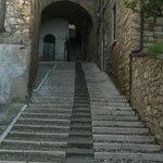 Escaleras de acceso a Le Muse