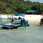 Tractor that takes u from the pick up to the boat #1