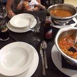 Fabada y sopa de pescado... A cual mejor...