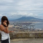 View of Vesuvius from ramparts