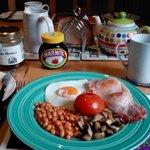 English breakfast served