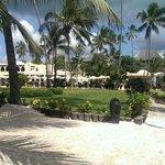 Resort gezien vanaf het strand