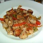 Steraccetti di carne ai peperoni tricolore