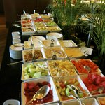 A small part of the huge breakfast buffet.