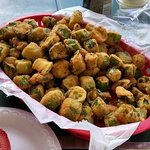 Big basket of fried okra