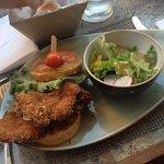Chicken burger- undercooked