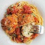 Chicken balls with Spaghetti