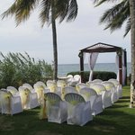 Wedding ceremony setup!