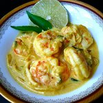 One of our seafood special king prawn moilee