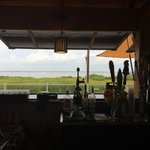 Tiki Bar looking out at the bay