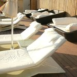 Chill out loungers on Roof Terrace