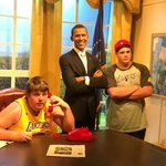 My kids with Obama