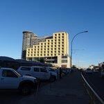 L'Hilton vu de l'extérieur