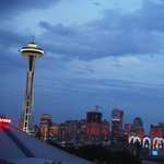 Space Needle from the rooftop deck