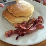 Pancakes and bacon.