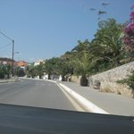 main road of chrysi akti (close to the hotel)
