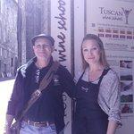 tony the winemaker and Sarah the instructor