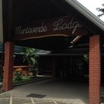 The front door of Monteverde Lodge & Gardens.
