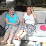 The ladies cannot take the pace so feet up and coctails