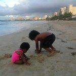 having fun in the sand