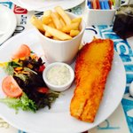 Cod + chips + salad - all fresh and made to order