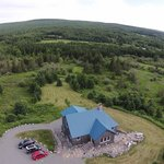 Aerial Picture of the Blue Tin Roof B&B