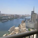 Looking down at the Nile River from the 25th floor balcony.
