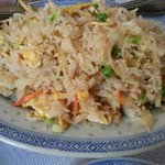 Vegetables fried rice. Simple yet nice.