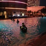 Glow party at the pool!