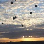 Globos aerostáticos sobre Cappadoccia