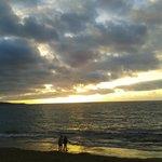 Puesta de sol en la playa de Las Canteras