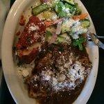 Chicken marsala with veggie side