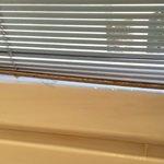 Rusty blind in main bathroom