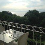 Vista hacia el Pacífico desde el Restaurante