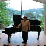 Pianist in concert hall