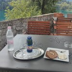 Drink and snack on Bled Island