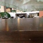 Dust layer heavy under restaurant curtains