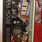 Rail House has live entertainment - staff doesn't know they advertise in their hotel book  - no