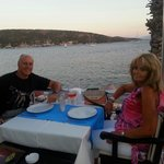 Lovely meal with fab view