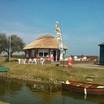 Waterways Cafe with boat
