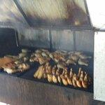 Cooking chicken...