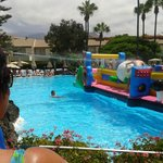 inflatable fun at the pool