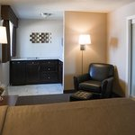Sunset suite bedroom/kitchenette area