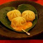 Dwarika's momo (dumplings) - part of the feast