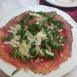 Carpacio salad was spectacular